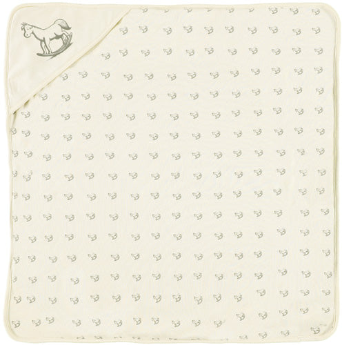 Rocking Horse Jersey Lined Blanket Cream