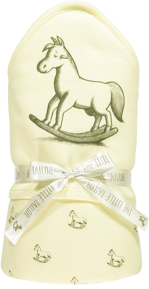 Rocking Horse Jersey Lined Blanket Lemon