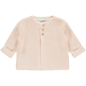 Soft Pink Cotton Cardigan