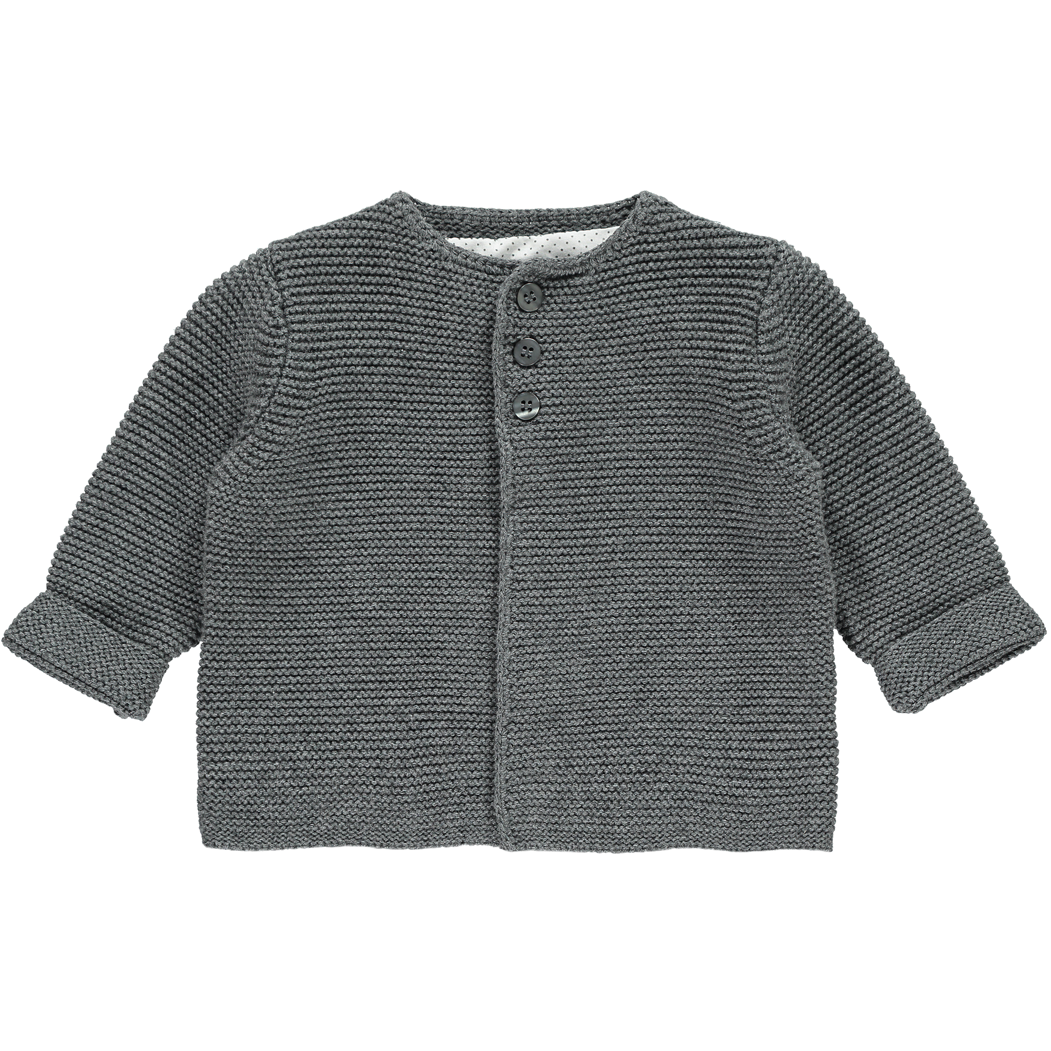 Charcoal Cotton Cardigan