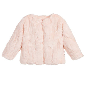 Girls Faux Fur Jacket Pink