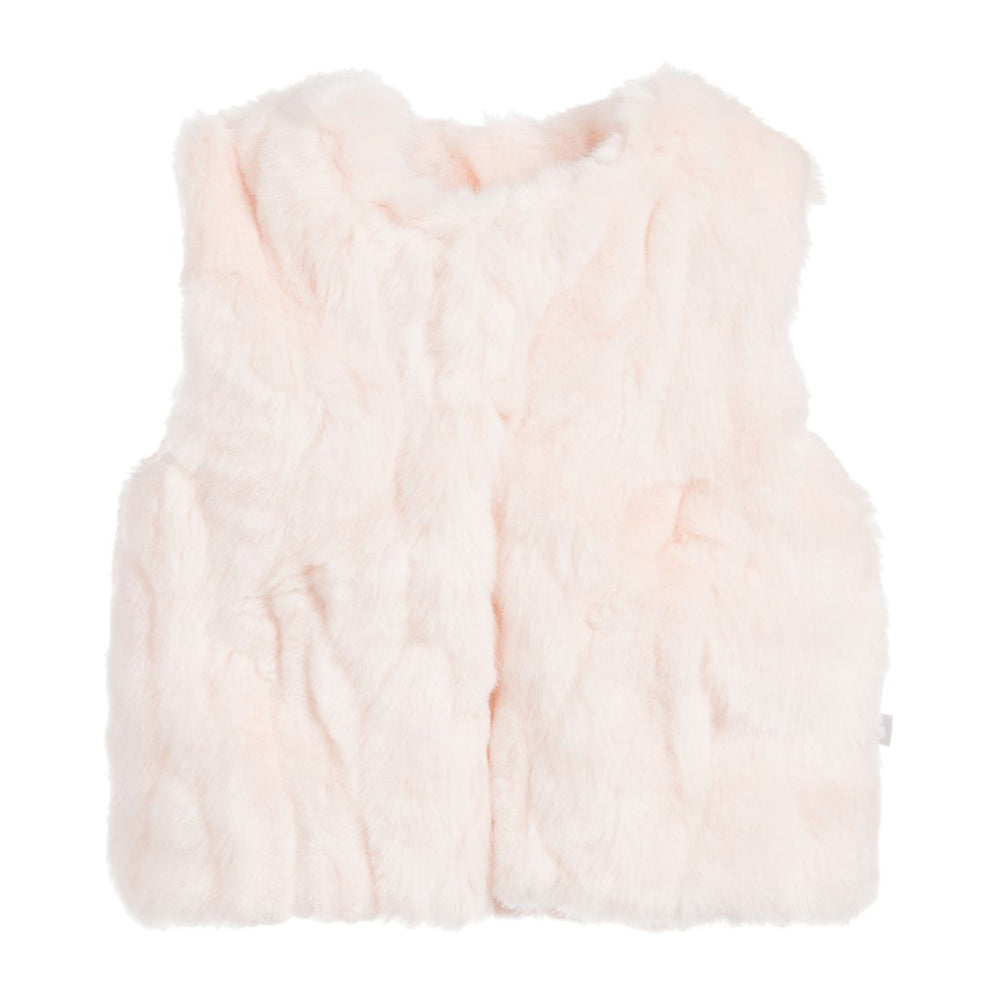 Girls Faux Fur Gilet Pink