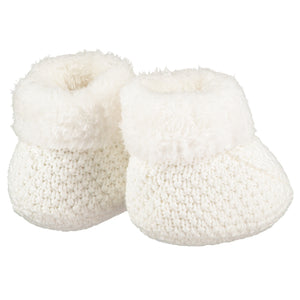 Cream Knitted Plush Lined Booties