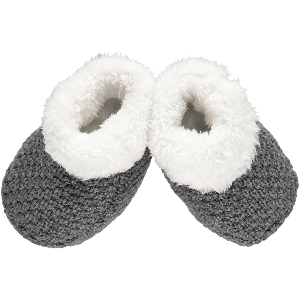 Charcoal Knitted Plush Lined Booties