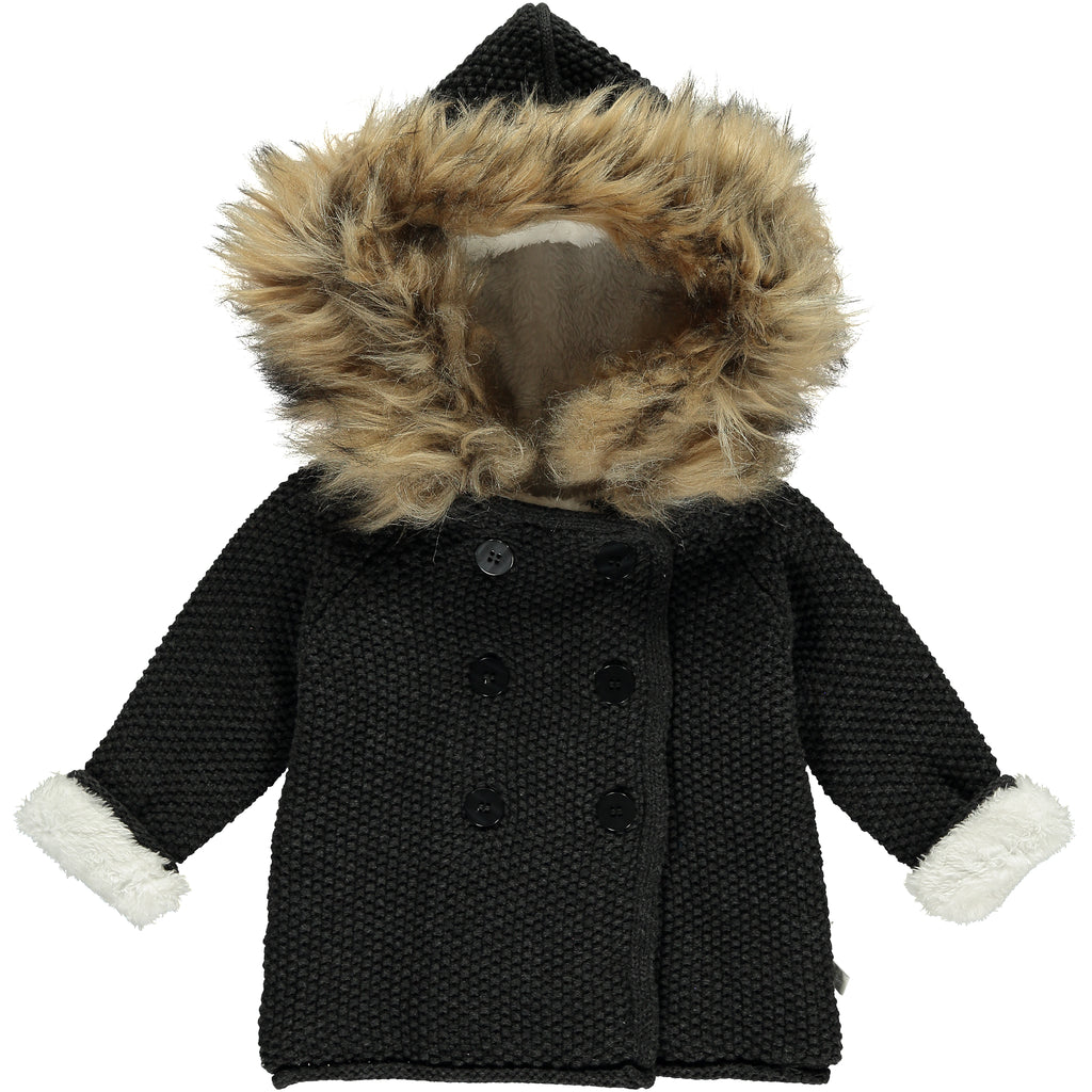 Fur Trim Pixie Knitted Jacket
