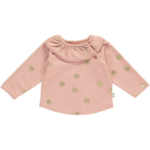 Baby Girls Frill Collar Sweat - Pink