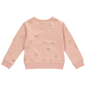 Baby Girls Slouchy Sweat - Pink and gold