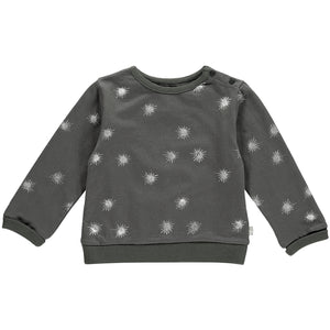Baby Girls Slouchy Sweat - Charcoal and Silver