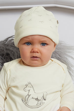 Rocking Horse Hat - cream