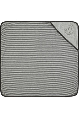 Reversible Soft Jersey Blanket - charcoal and grey marl