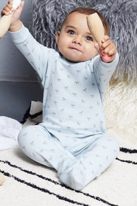 Super Soft Jersey Sleepsuit - blue