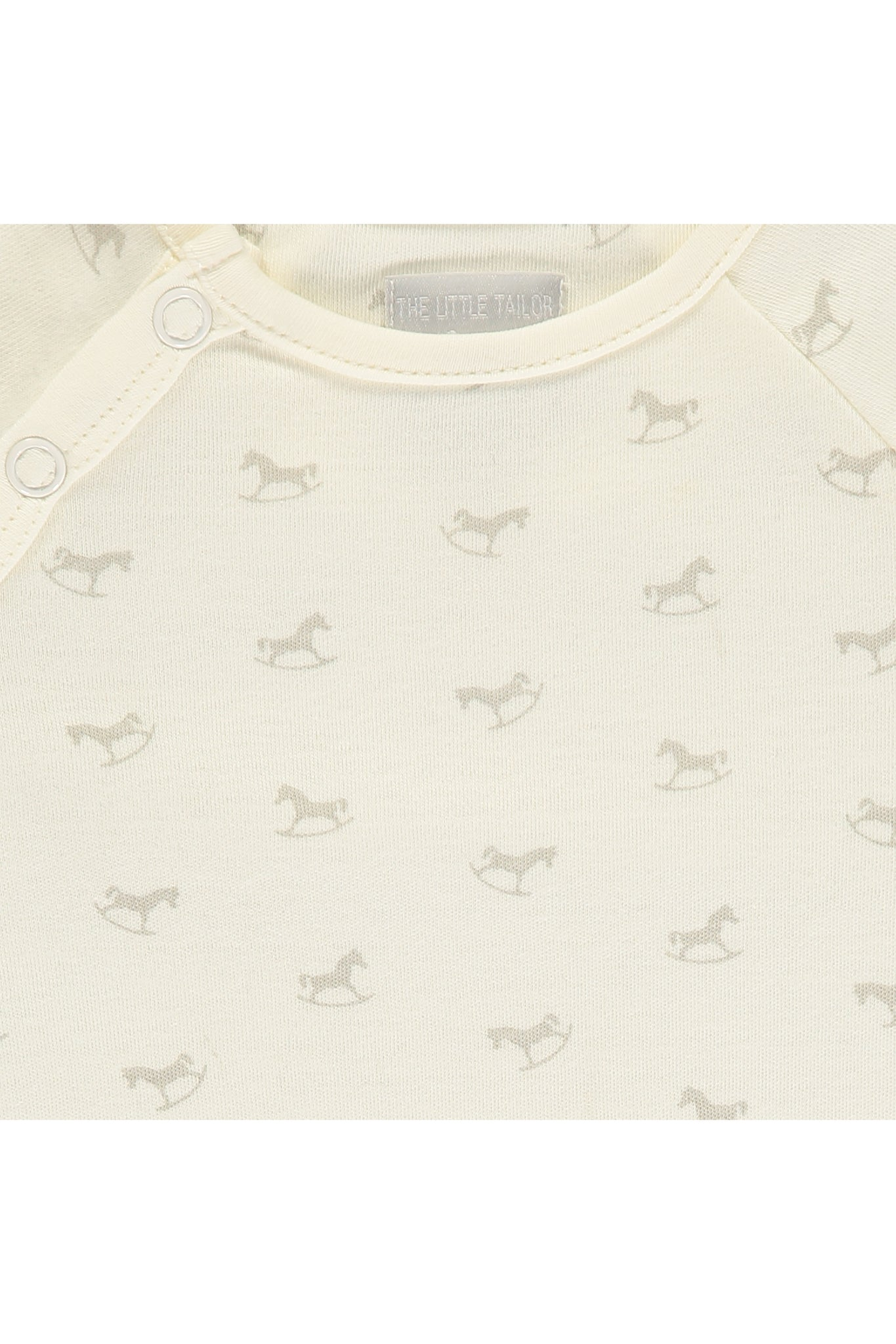 Super Soft Jersey Sleepsuit - cream