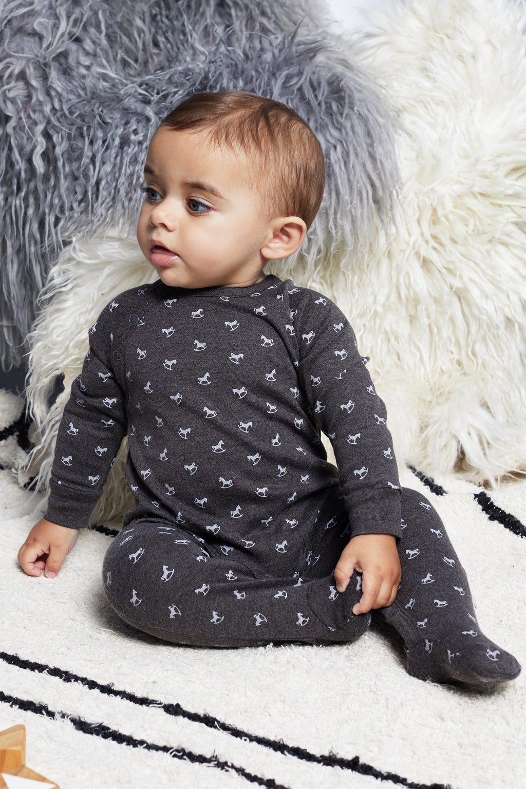Super Soft Jersey Sleepsuit - charcoal