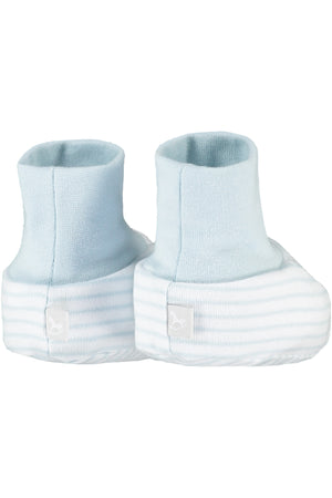 2 Pack Soft Jersey Baby Booties - blue