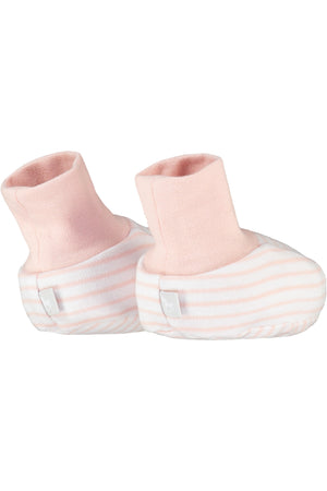 2 Pack Soft Jersey Baby Booties - pink