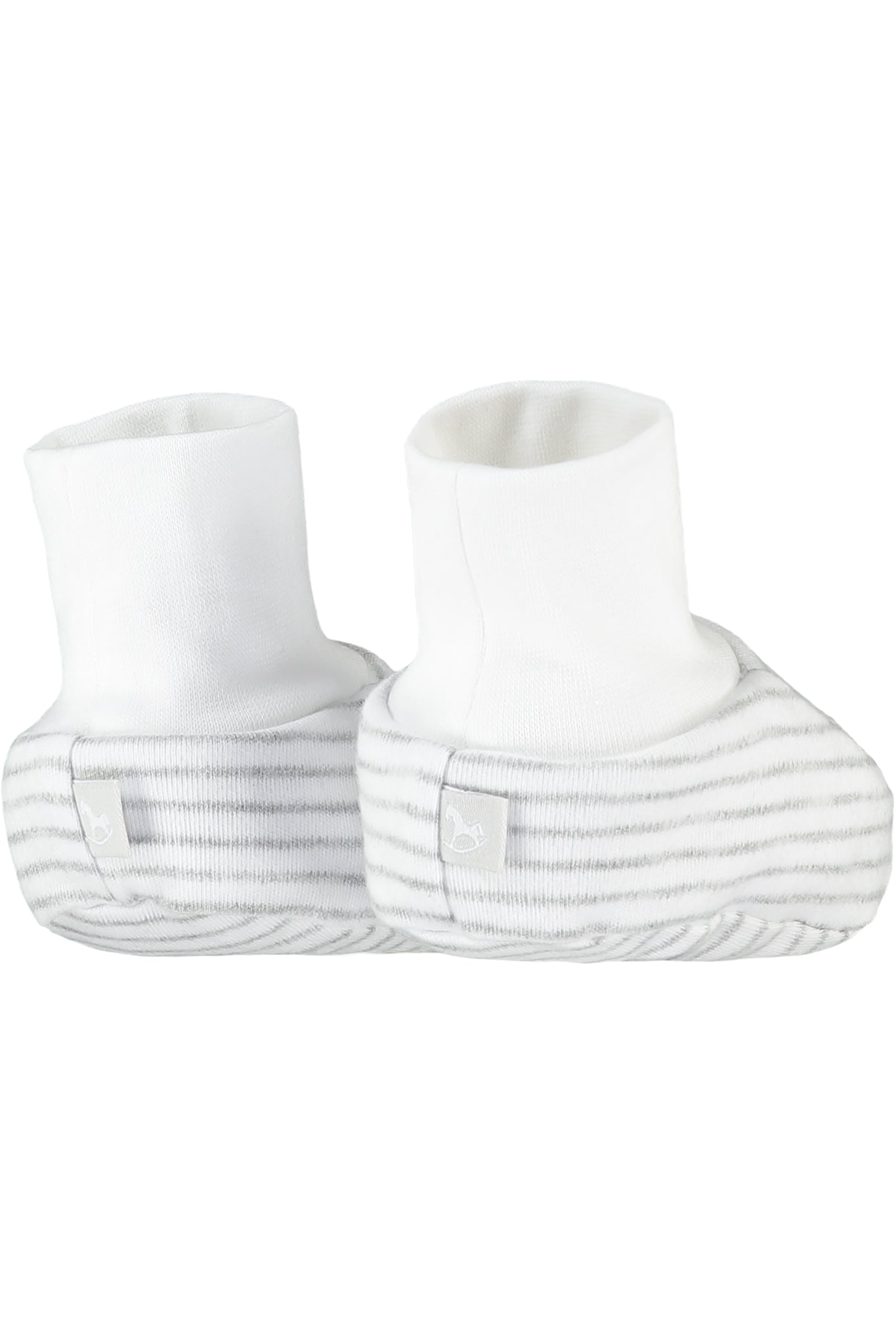 2 Pack Soft Jersey Baby Booties - white