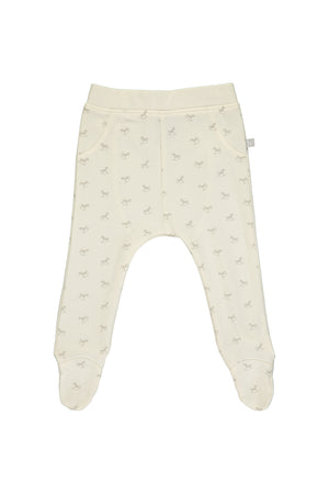 Comfy Rocking Horse Print Pant - cream