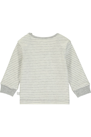 Super Soft Jersey Striped Rocking Horse Top - cream
