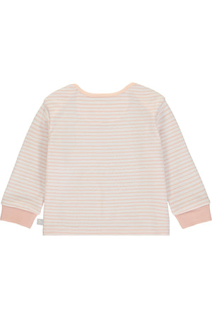 Super Soft Jersey Striped Rocking Horse Top - pink