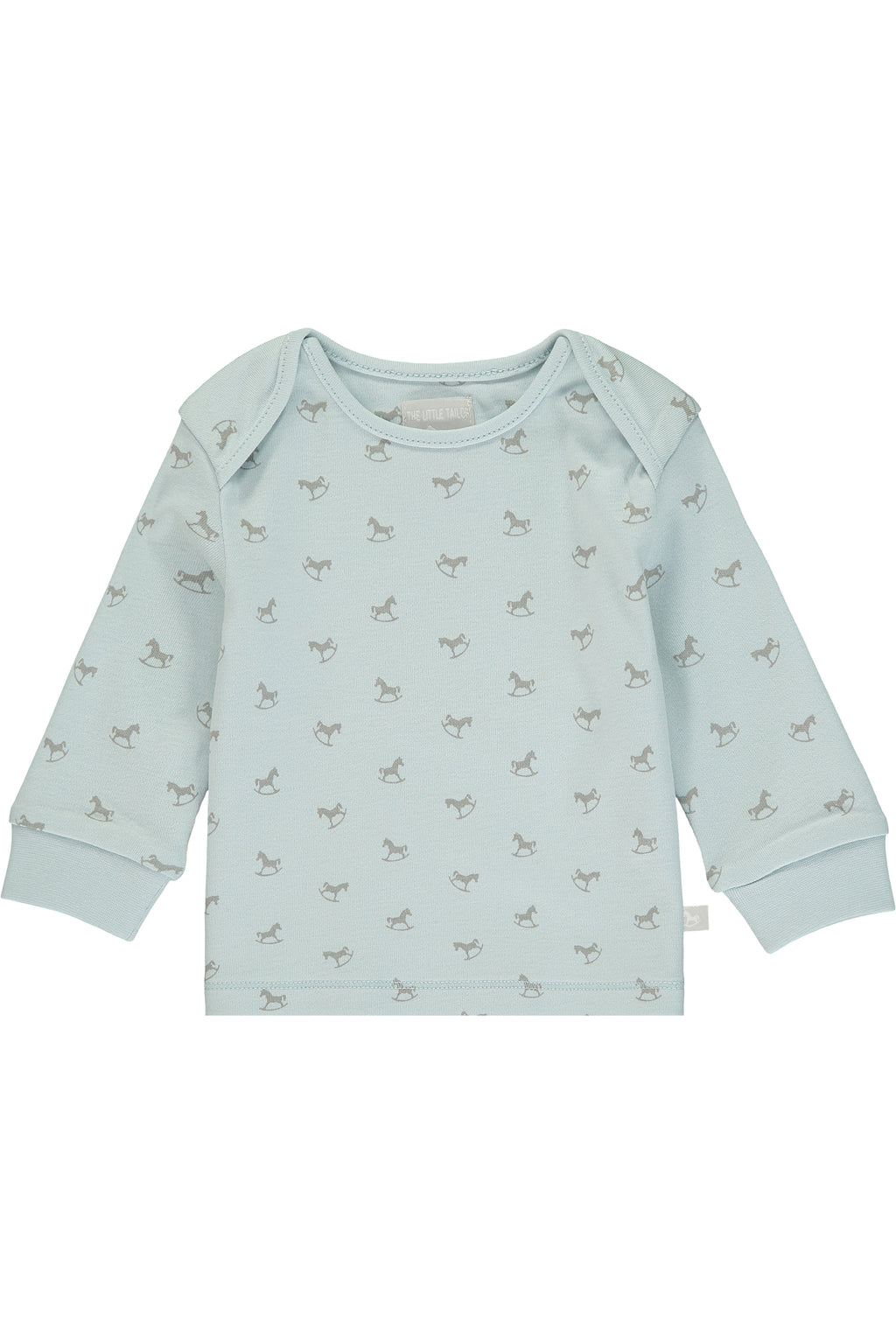 Super Soft Jersey Rocking Horse Top - blue