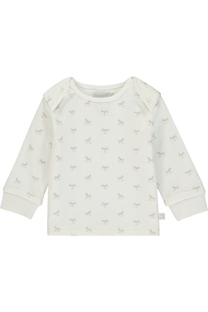 Super Soft Jersey Rocking Horse Top - white