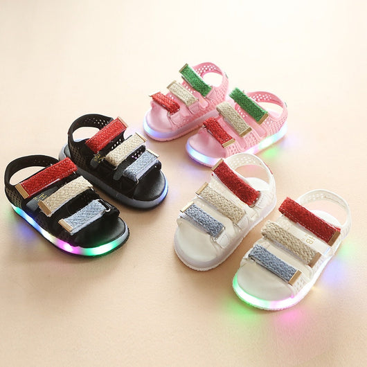 b1fa30b42b56c3 candy color colorful lighting up children casual shoes high quality hot  sales summer beach sandals kids ...