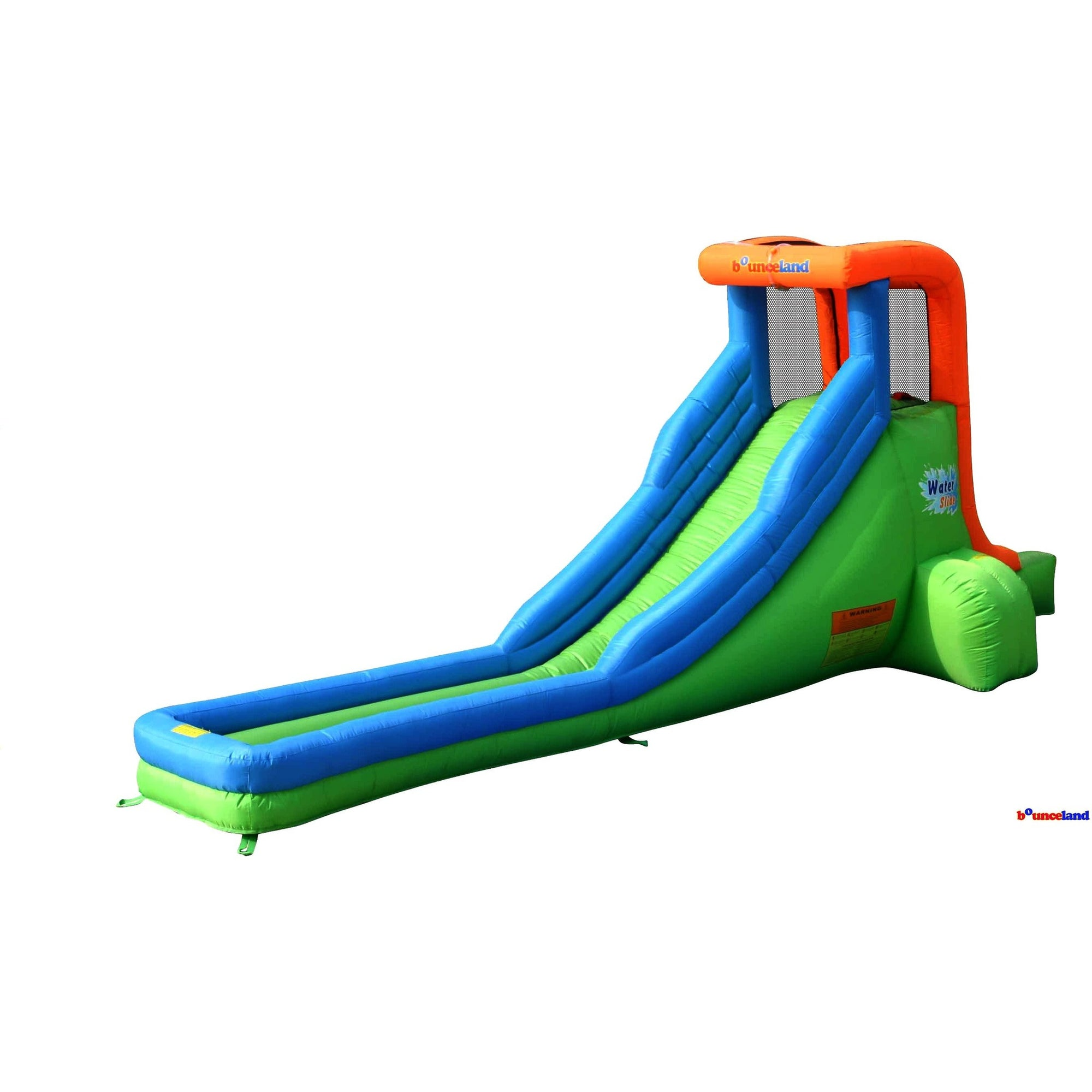 Bounceland Green Inflatable Single Water Slide   Bounce Houses For Sale   Bounce  House Planet