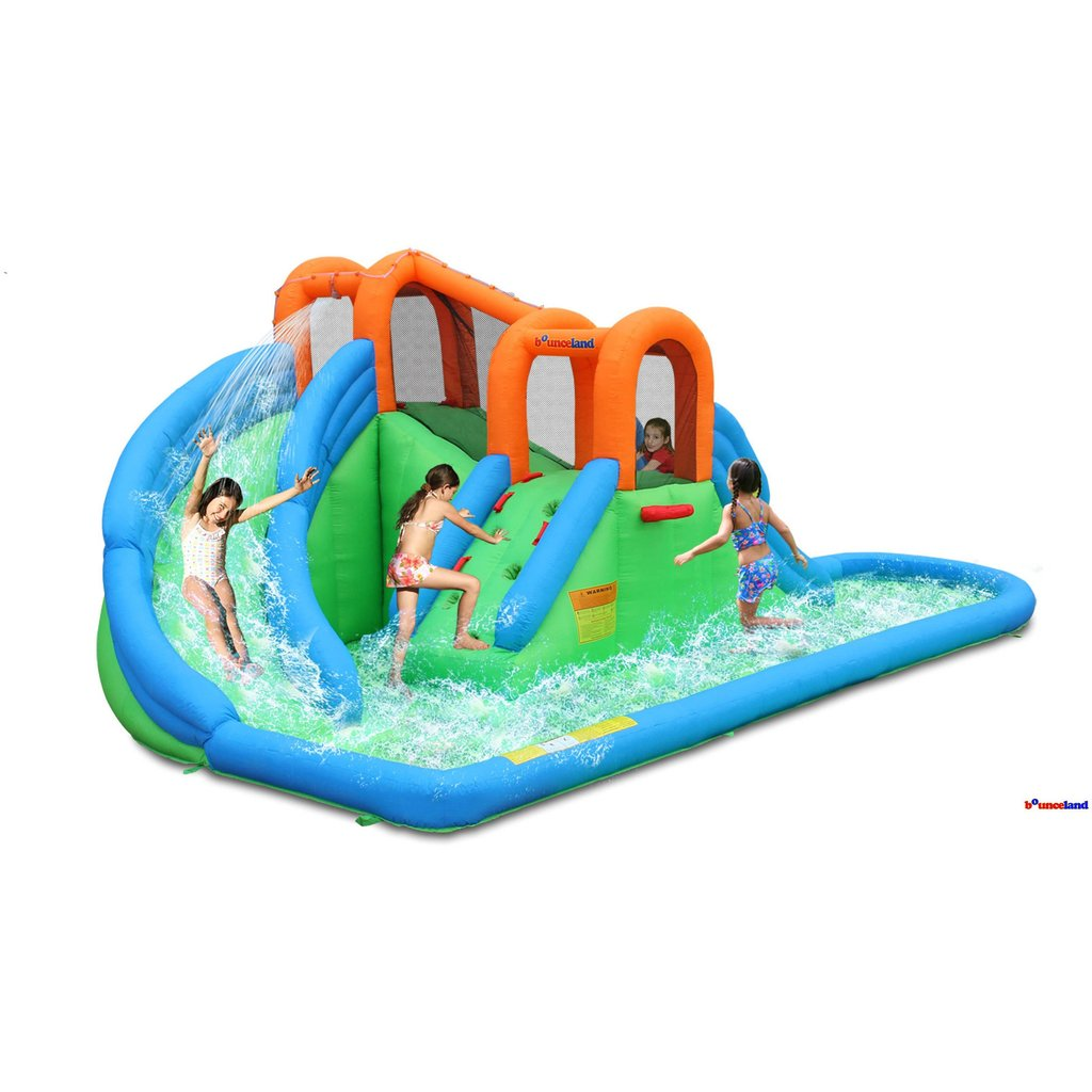 Bounceland Island Water Park With Basketball Hoop U0026 Pool   Bounce Houses  For Sale   Bounce House Planet