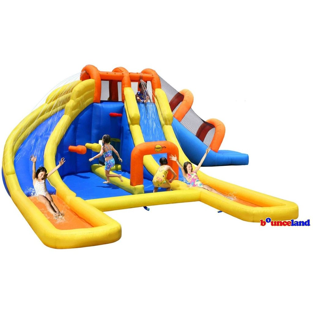 Bounceland Big Splash Triple Water Slides U0026 Pool Water Park   Bounce Houses  For Sale   Bounce House Planet