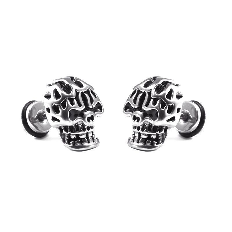 men stud silver s webid skull sterling en earrings bijouxstore