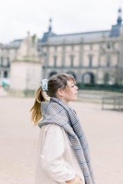 French Ribbed Nude Blush Scrunchie
