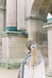 French Ribbed Light Grey Scrunchie