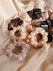 Eco Satin Sleep Blush Scrunchie - thin