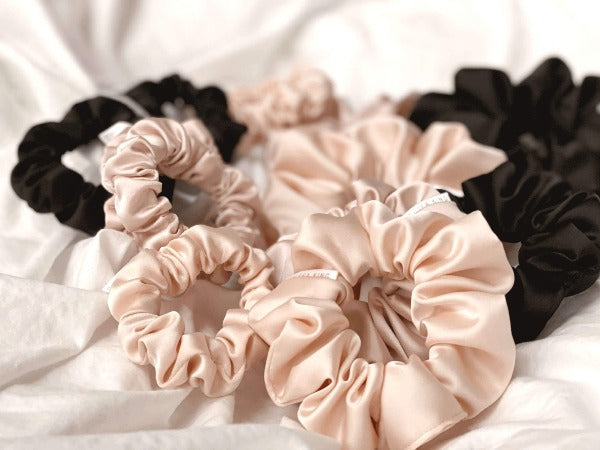 Eco Satin Sleep Black Scrunchie