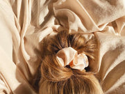 Eco Satin Sleep Champagne Scrunchie