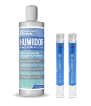 Humidor Solution & Cigar Humidor Humidifier Combo, (Humidifier Gel & Solution)