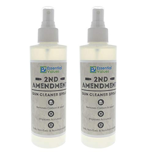 Essential Values 2 Pack Gun Cleaner Spray, (8oz) Best Used to Remove Carbon, Lead & Copper from Handguns, Rifles & Shotguns