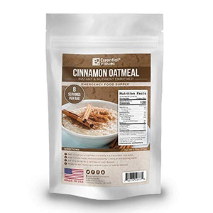 Essential Values 64 Servings Emergency Food Supply (64-Day Supply / 1 Breakfast per Day) – Fortified & Enriched Oatmeal