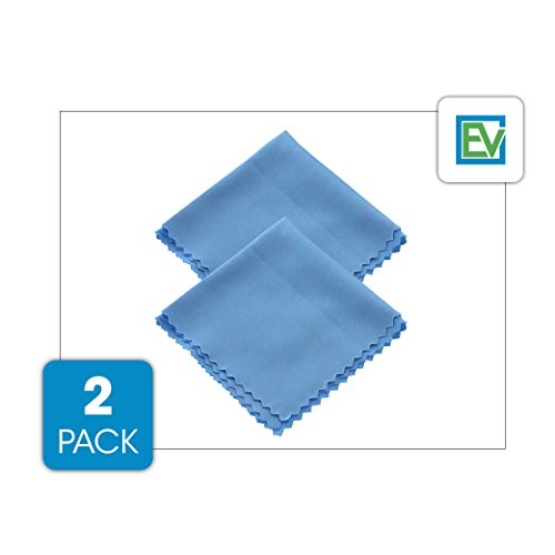 Microfiber Cleaning Cloth (2 Pack) - For Glasses, Camera Lens, Tablets & Phone Screens By Essential Values (2 Pack)