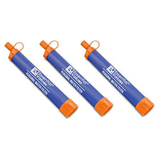 Essential Values 3 Pack Personal Water Filter – Perfectly Sized Water Straw for Hiking, Backpacking, Camping, Traveling & Any Emergency Drinking Water Survival Situations