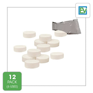 Descaling Tablets (12 Count / 6 Uses) For Jura, Miele, Bosch, Tassimo Espresso Machines and Miele Steam Ovens by Essential Values