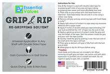 Essential Values Golf Regripping Kit (8 fl oz + 28 Strips), Double The Solution - Excellent for Quick & Easy Regripping of Golf Clubs - Made in USA