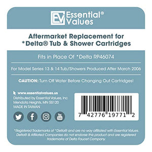2 PACK Essential Values Universal Shower Cartridge (#RP46074) – Aftermarket Replacement for Delta Faucets Series 13/14 - Made from the Markets Finest Metals & Plastics