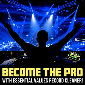 Essential Values Pure Vinyl Record Cleaner Spray & Micro Fiber Cloth – Cleaner for Records, DJ Controllers & Mixers