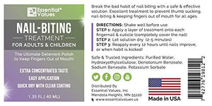 2 PACK Essential Values Nail-Biting Treatment Polish for Adults & Children (1.35 FL OZ PER BOTTLE), MADE IN USA | Prevent Thumb Sucking and Stop Nail Biting