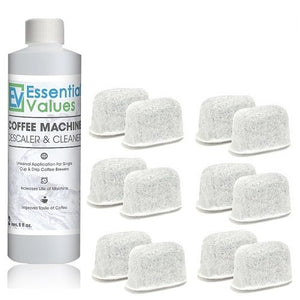 Keurig Descaler & BONUS 12 PACK Replacement Keurig Filters (Brewer Care Kit), Universal Descaling Solution, Decalcifier & Coffee Maker Cleaner