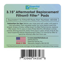 3 PACK Essential Values Replacement Filtron Filter Pads – For Part #60-035, An Replacement That Fits Both Standard & Pro Models
