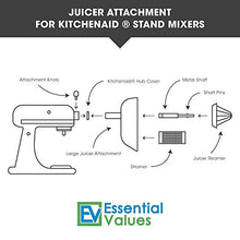 Juicer Attachment For Kitchenaid Stand Mixers By Essential Values