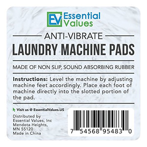Anti Vibration Laundry Machine Pads - For Any Washer & Dryer Machine