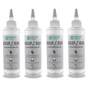 Essential Values 4 Pack Golf Regripping Solvent (8 Fl Oz), Double The Solution Compared to Others - Excellent for Quick & Easy Regripping of Golf Clubs - Made in USA